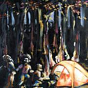 Big Orange Tent Part 1 Art Print