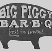 Big Piggy Bar B Q  Art Print