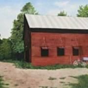 Big Red Barn Art Print