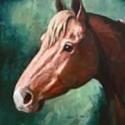 Big Red Snip    Horse Painting Art Print