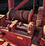 Big Red Winch Art Print