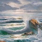 Big Seastorm - Italy Art Print