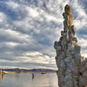 Big Sky And Tufa, Mono Lake, California Art Print