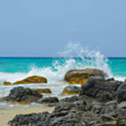 Big Splash On Rocks Of Playa Brava Art Print