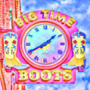 Big Time Boots - Nashville Hot Pink Art Print