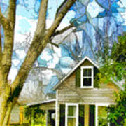 Big Tree Standing Tall In The Front Yard Art Print