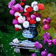 Big Vase With Peonies Art Print