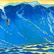 Big Wave Art Print by Douglas Simonson