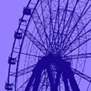 Big Wheel Blue Art Print