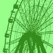 Big Wheel Green Art Print