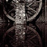 Big Wheel In Bw Art Print