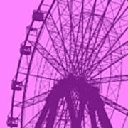 Big Wheel Purple Art Print