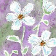 Big White Flowers Art Print