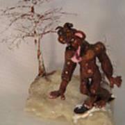 Bigfoot On Crystal Print by Judy Byington
