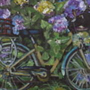 Bike And Bush Art Print