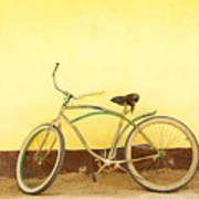 Bike And Yellow Wall Art Print