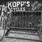 Bike At Kopp's Cycles Shop In Princeton Art Print