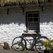 Bike At The Window County Clare Ireland Art Print