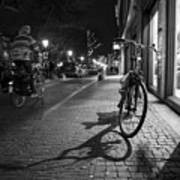 Bike Between Lights And Shadows, Netherlands Art Print