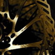 Bike Brake Art Print by Angie Wingerd