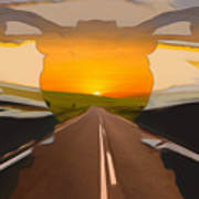 Bike Canyon Highway Art Print