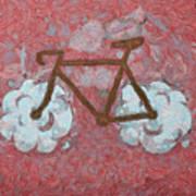Bike-cloud Red - Da Art Print