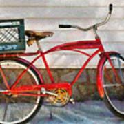 Bike - Delivery Bike Art Print by Mike Savad