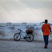 Bike In Essaouira Art Print