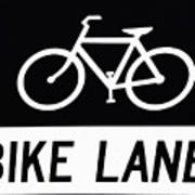 Bike Lane Art Print