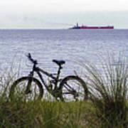 Bike On The Bay Art Print