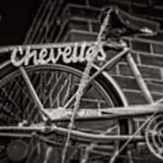 Bike Over Chevelles Art Print