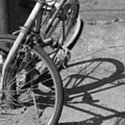 Bike Shadow Art Print