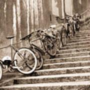 Bike Stairs Zurich Art Print