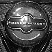 Biker Blues Art Print