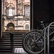 Bikes And University Art Print
