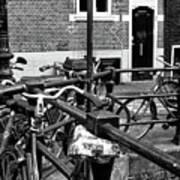 Bikes Hanging Out Mono Art Print