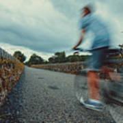 Bikes In Motion Near Durrow 1 Art Print
