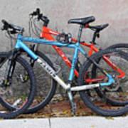 Bikes Left Alone Art Print