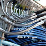 Bikes Print by Steven Scott