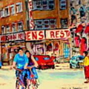 Biking  Past Ben Art Print