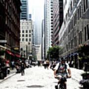 Biking The Streets Of New York City Art Print