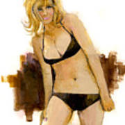 Bikini Beauty Art Print