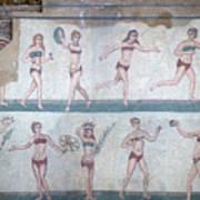 Bikini Girls Mosaic Art Print