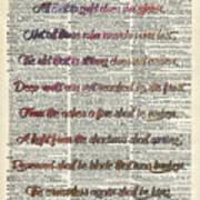 Bilbo Baggins Quote Vintage Art Art Print
