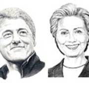 Bill And Hillary Art Print