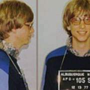 Bill Gates Mug Shot Horizontal Color Art Print