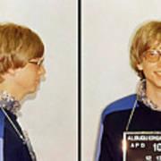 Bill Gates Post Impressionist Mugshot Art Print