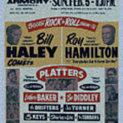 Art print poster Rock n Roll Concert Poster Condition:New S canvas Bill Haley