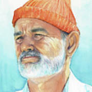 Bill Murray Steve Zissou Life Aquatic Art Print
