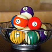 Billiard Balls Art Print